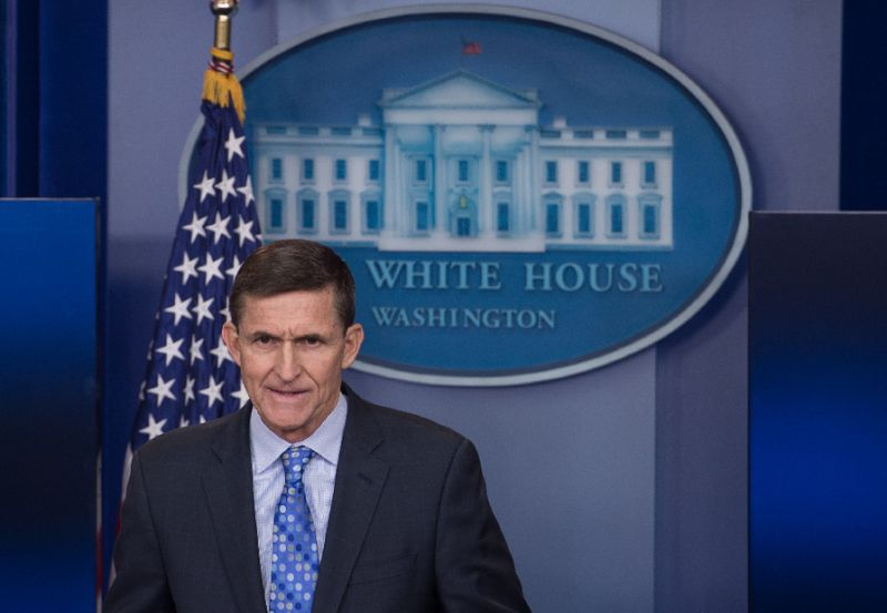 Former US National Security Adviser Michael Flynn. Click to enlarge