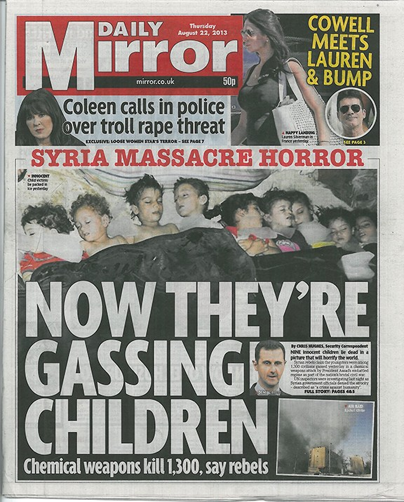 daily mirror fron page