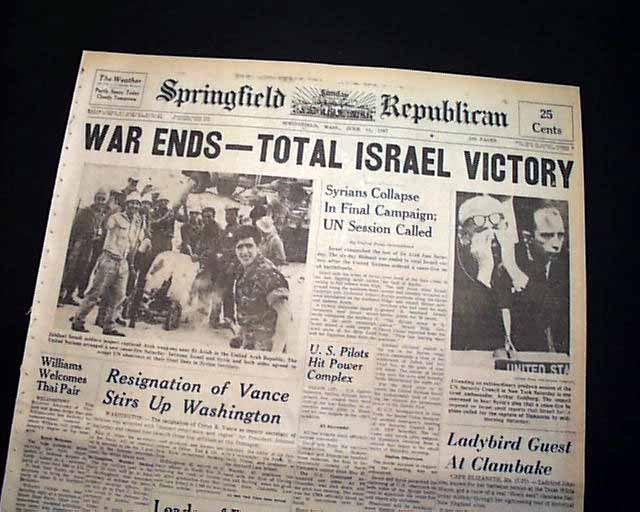 six day war headline