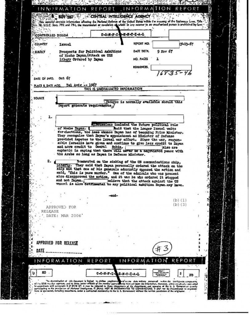 CIA document still partly censored 50 years on. Click to enlarge