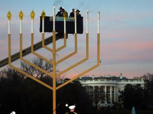 Cabalist Jews celebrate their latest acquisition, the White House. Click to enlarge