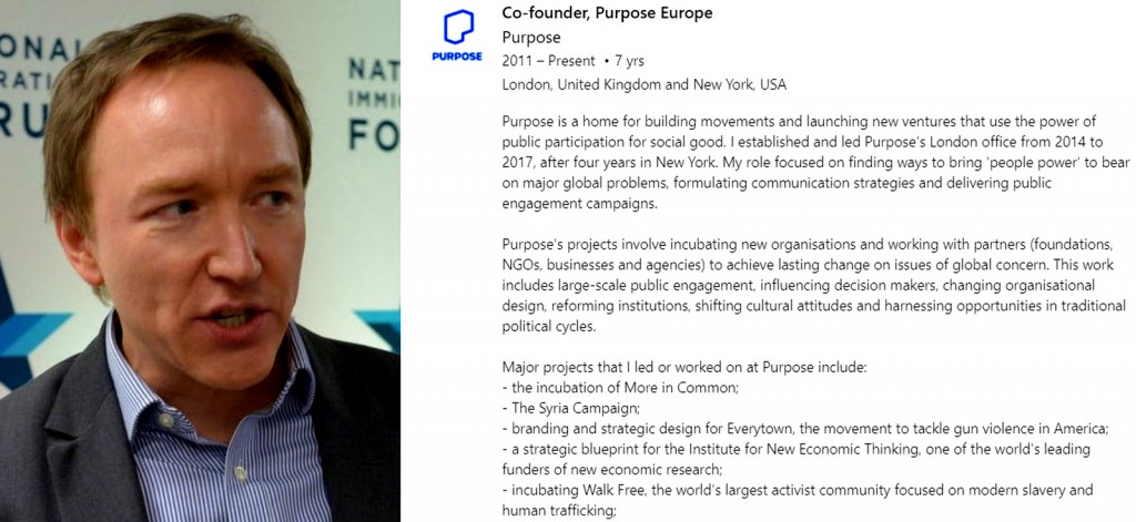 Tim Dixon, pictured left, co-founded Purpose Europe.