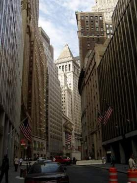 Wall st, the earthly centre of the market meltdown