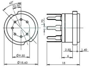 7 Pin Socket for Miniature Tubes  wwwthetubestore