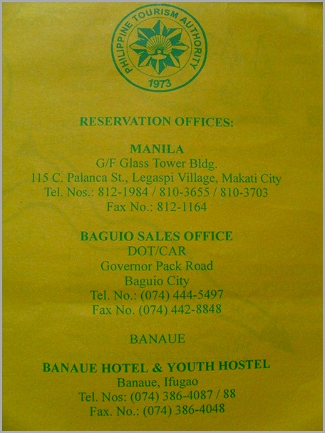 Banaue Hotel and Youth Hostel
