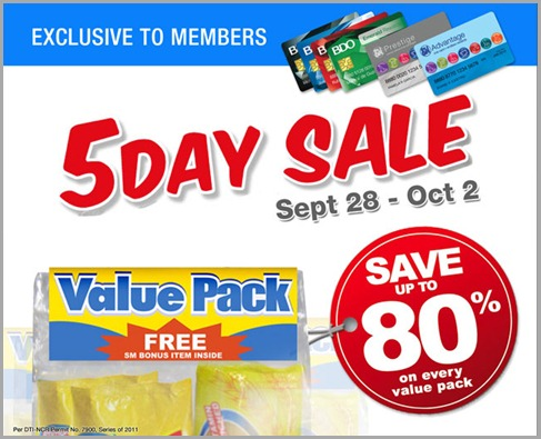 SM 5-Day Sale