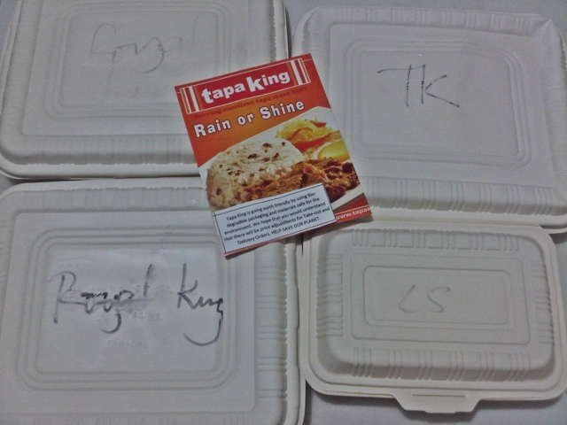 Tapa King's Corn Starch takeout/delivery packaging...