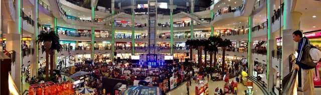 "A view of ""Manila's Finest Eats"" event from the second level of Market! Market!"