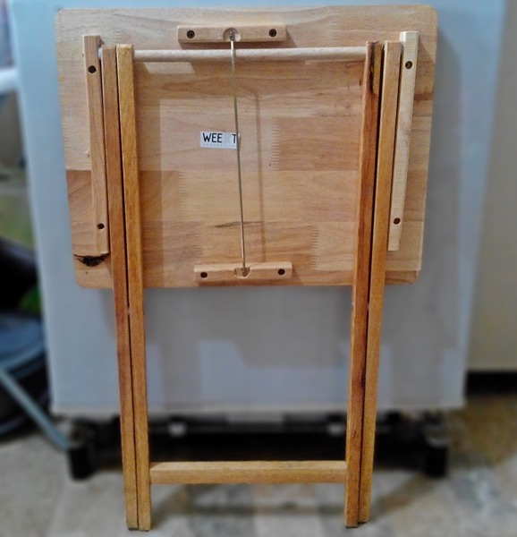Folded work table