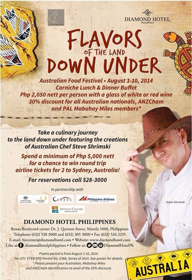 Flavors Of The Land Down Under - Corniche - Diamond Hotel - Manila - Steve Shrimski