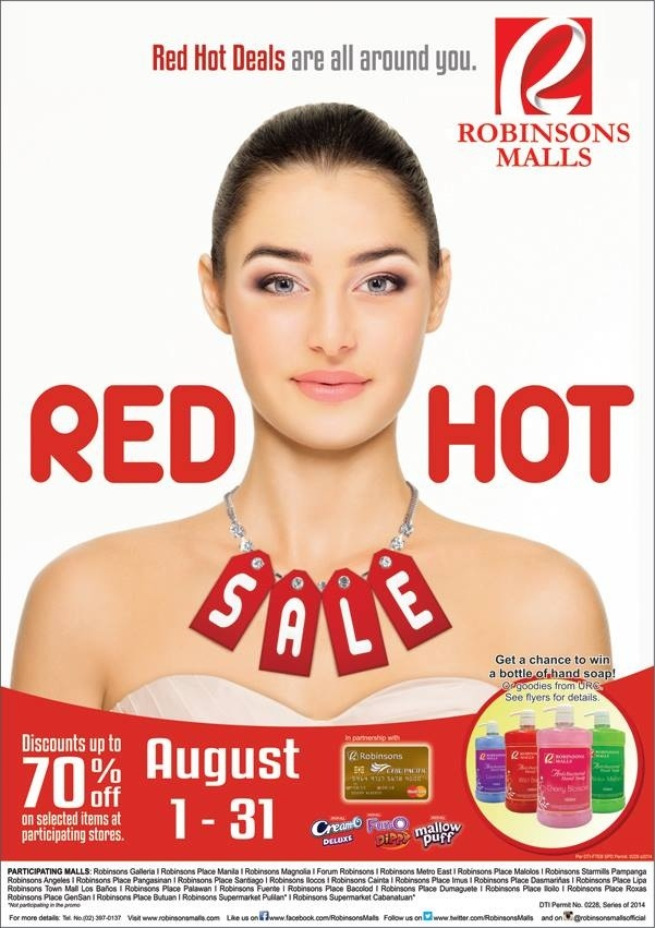 Robinsons Malls - Red Hot Sale - Robinsons Red Hot Sale - 2014