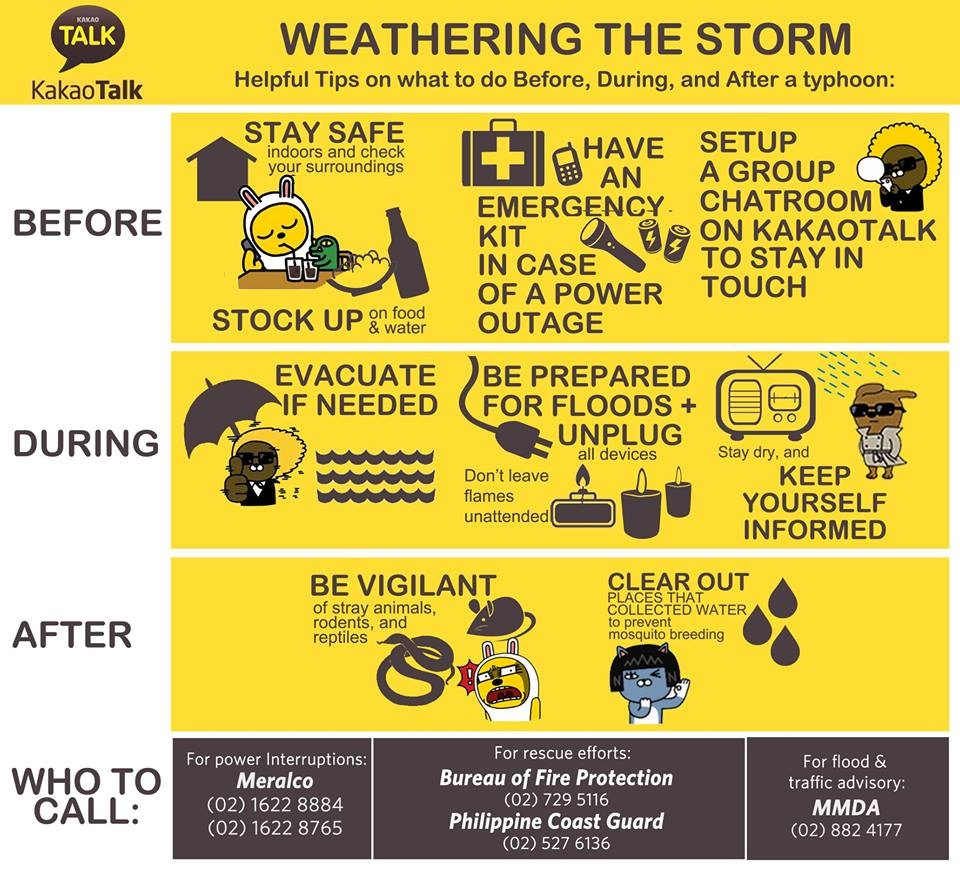 KakaoTalk typhoon tips infographic