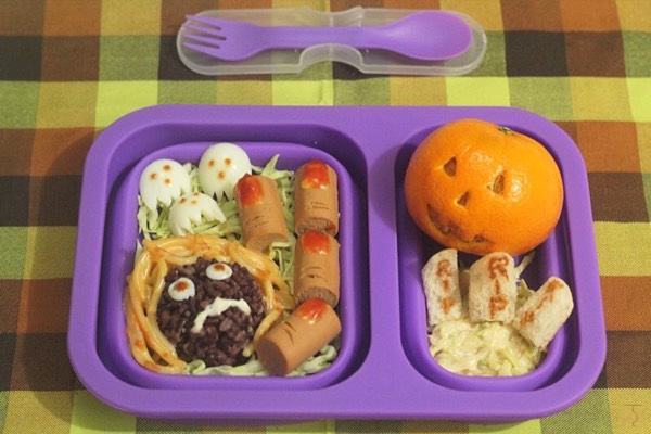 Cheez Whiz Halloween Bento - Halloween Bento Box Making