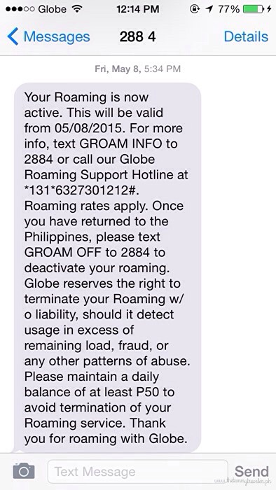 Globe Roam Surf for Prepaid Subscribers