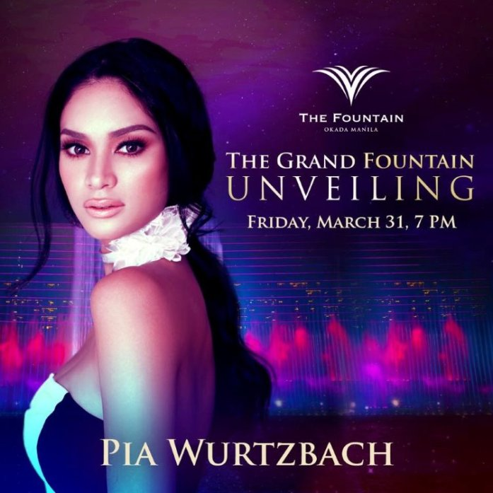 Okada Manila - The Fountain - Pia Wurtzbach