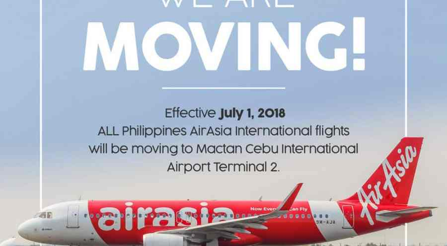 AirAsia Philippines Terminal Change Mactan Cebu International Airport