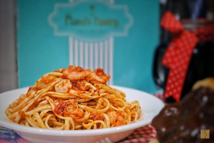 Tomato Basil and Shrimp Pasta from plana's pantry