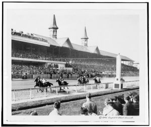Count Fleet leading the way in the 1943 Kentucky Derby