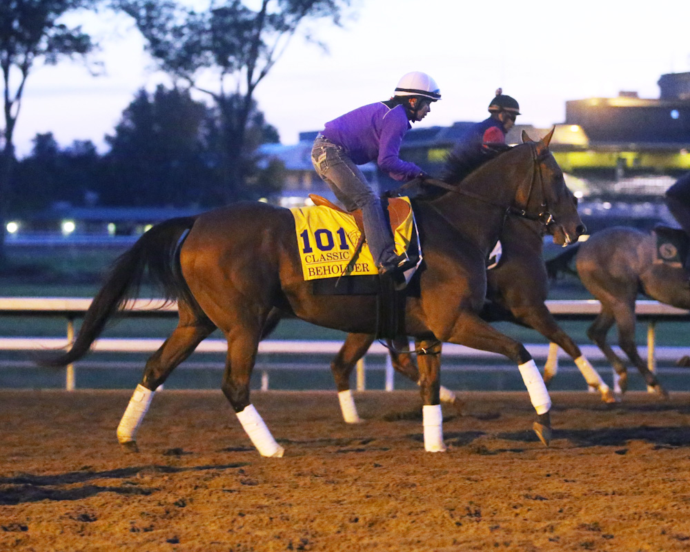 Beholder gallops at Keeneland on October 22nd - Keeneland Photo