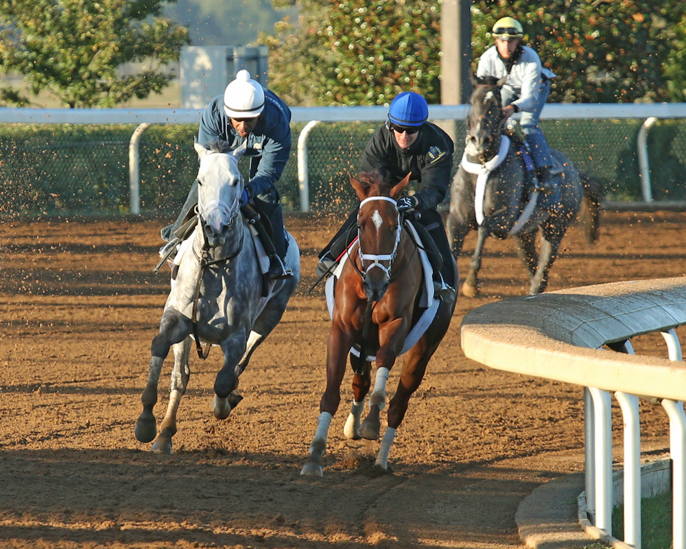 Curalina, Race Day Breeze Together at Keeneland