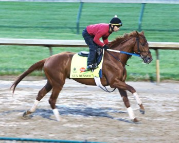 Gun Runner galloping at Churchill Downs - Coady Photography