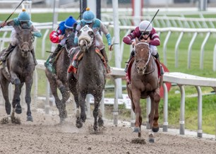 Gun Runner winning the Louisiana Derby - Photo by Amanda Hodges Weir/Hodges Photography