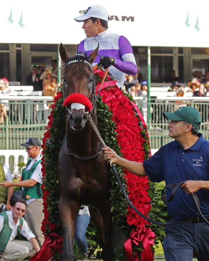 Nyquist after winning the Kentucky Derby - Coady Photography