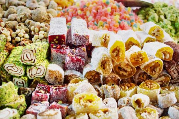 Turkish delight flavours