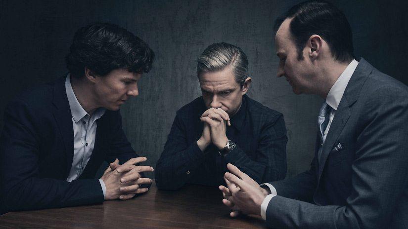 Benedict Cumberbatch, Martin Freeman, Mark Gatiss