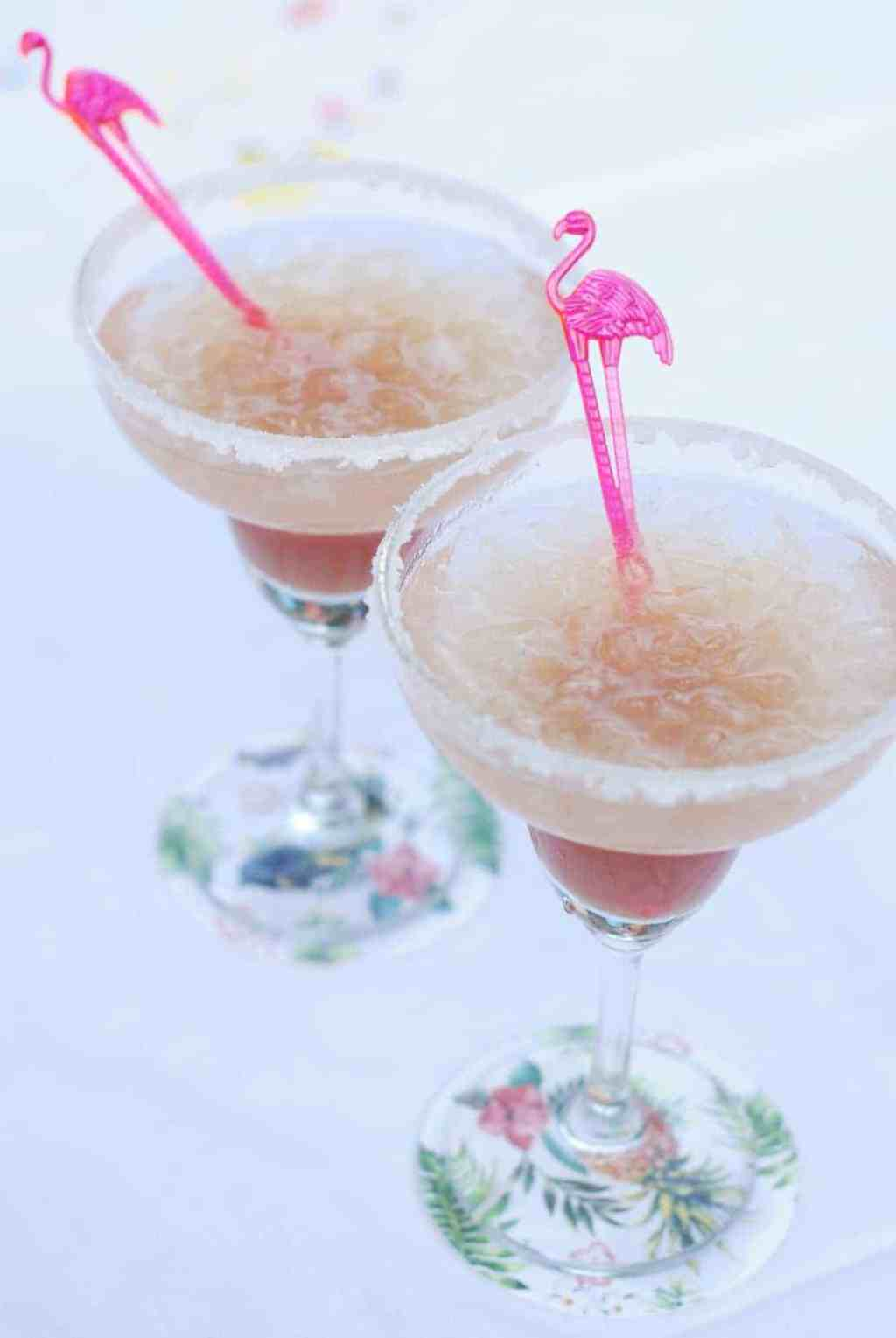 a gin and rhubarb cocktail