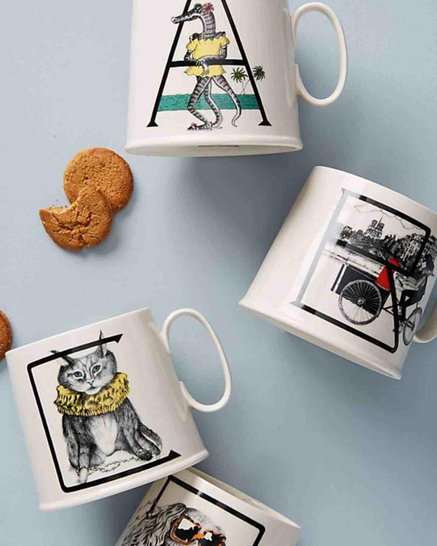 favourite picks   Animal Alphabet Monogram Mug from Anthropologie