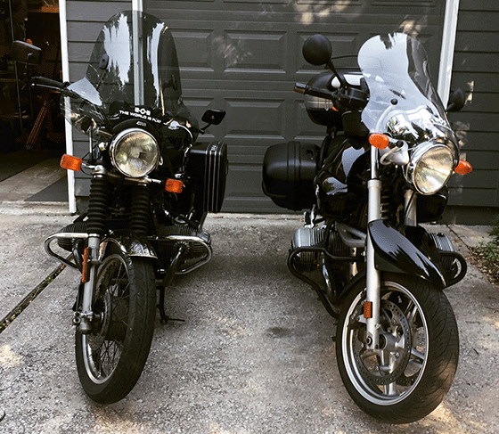 The Two Wheeled Tourist's Motorcycles