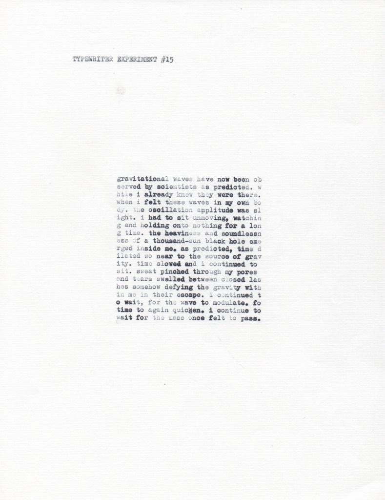 Type Bar Typewriter Experiment