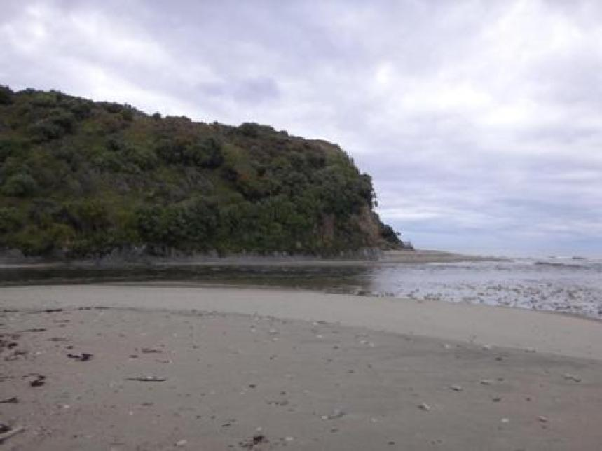 View East Waitutu River mouth.