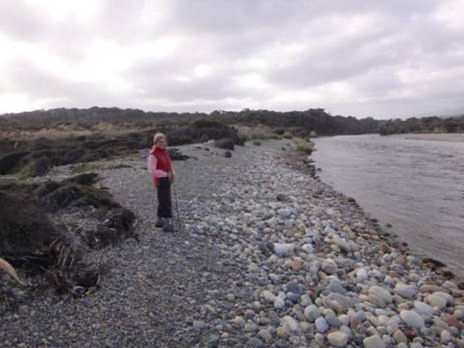 Wairaurahiri River mouth looking upstream