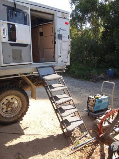 Folding Staircase for Camper