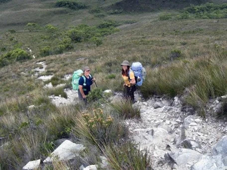Kerri & Della - the climb begins