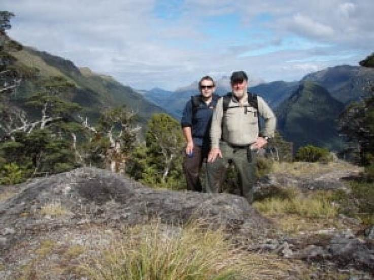 2008: With My Son Bryn, Centre Pass, Tripod Hill, Dusky Track Fiordland NZ