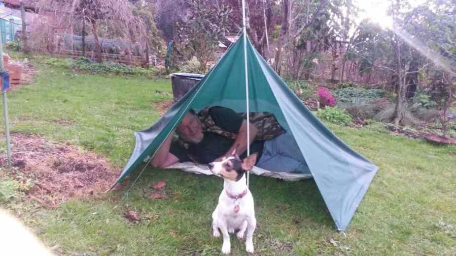 Pitching the Poncho as a Shelter