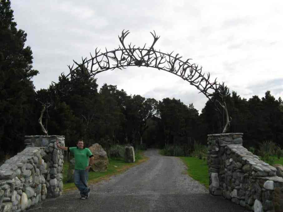 Antler driveway arch near Hokitika NZ, Bryn Jones 2008