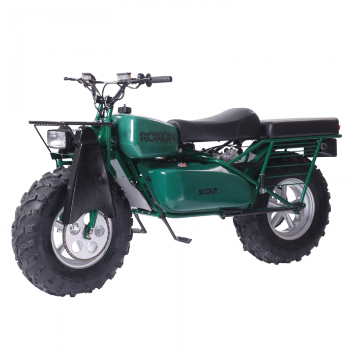 Rokon Scout, a 2WD motorbike: