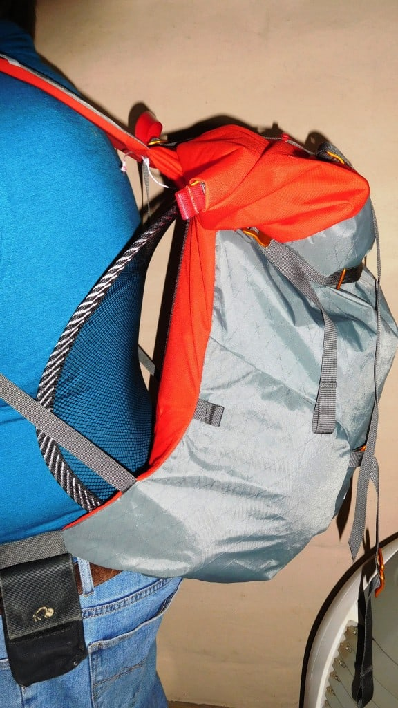 DIY Dry Back Hiking Pack