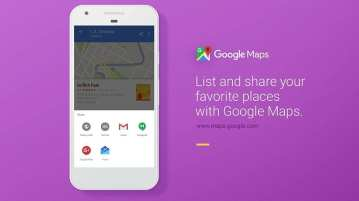 Google Maps create & share 'Lists' of your favourite places