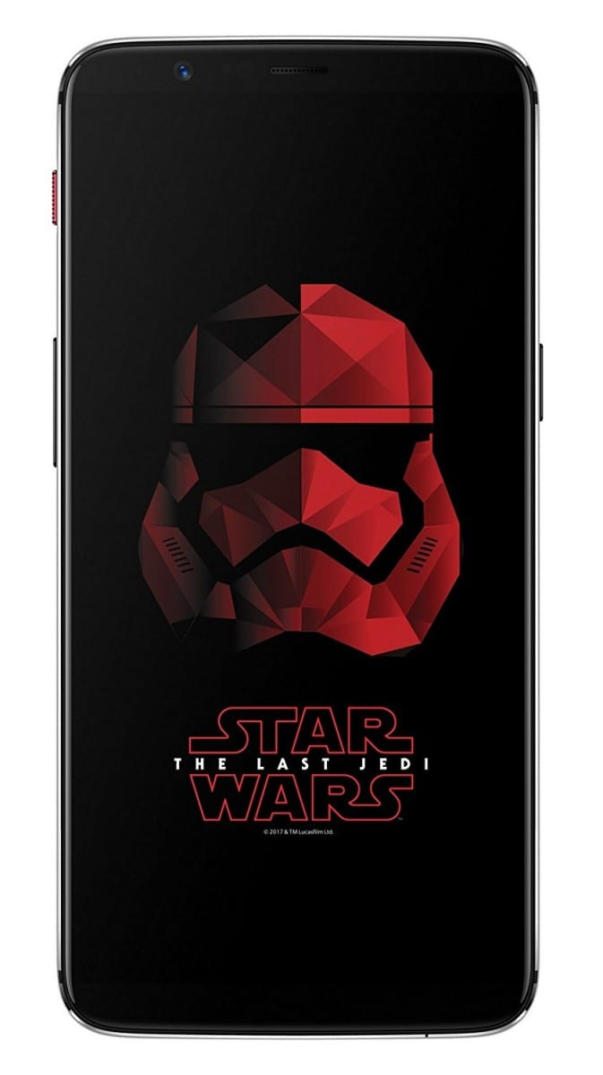 Oneplus 5t Star Wars Edition With 6 Inch Bezel Less Display 8gb Ram 128gb Storage Launched For Inr 38 999 The Unbiased Blog