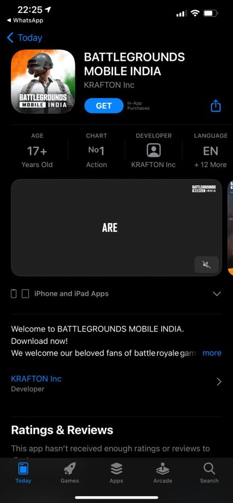 How to download Battlegrounds Mobile India on supported iOS devices