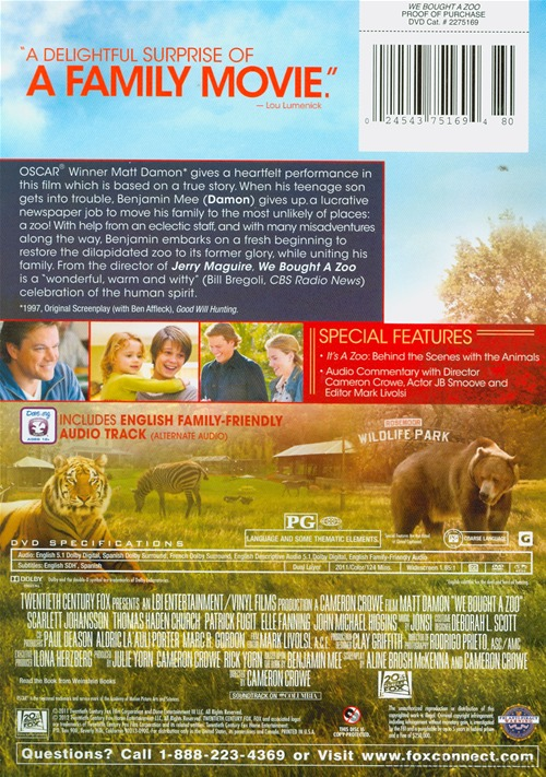 We Bought A Zoo Dvd The Uncool The Official Site For