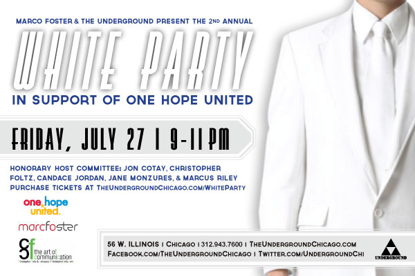 2nd Annual White Party Charity Event Benefiting One Hope United Chicago Marco Foster