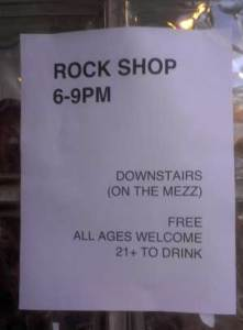 Rock Shop Flyer. (Photo - D.Hixon)
