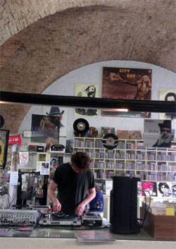 Me spinning some records in Musica Musica. (Photo - J.Booton)