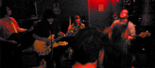 The Mantles onstage at Lilypad. (Photo - D.Hixon)